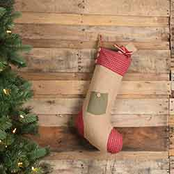 Dolly Star Green Pocket 20 inch Stocking
