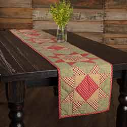 Dolly Star Quilted 72 inch Table Runner