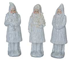 Glittered White Resin Santa