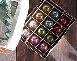 Small Vintage Christmas Ornaments (Set of 12)