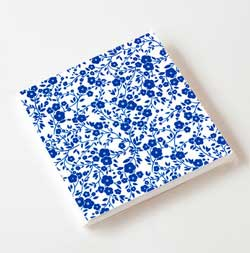 Blue and White Chintz Paper Luncheon Napkins