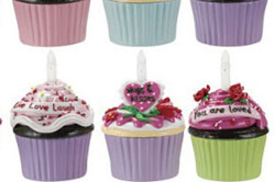 Hugs & Kisses Blow-out Cupcake Trinket Box