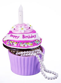 Happy Birthday Blow-out Cupcake Trinket Box