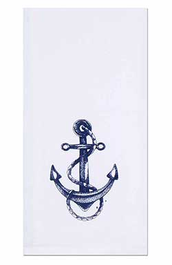 Anchor with Rope Towels (Set of 2)
