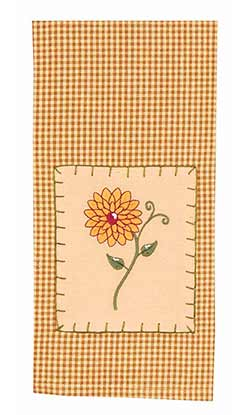 Yellow Zinnia Towels (Set of 2)