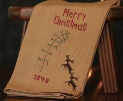 Merry Christmas 1848 Towel