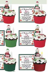 Christmas Blow-out Cupcake Trinket Box