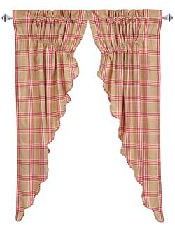 Elaine Rouge Prairie Curtain (63 inch)