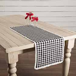 Emmie Black 36 inch Table Runner