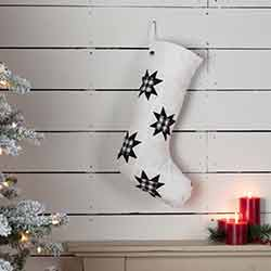 Emmie Black Patch 20 inch Stocking