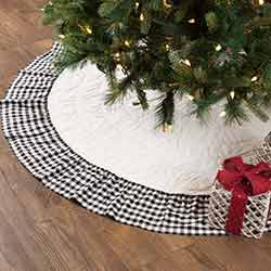 Emmie Black Ruffled 60 inch Tree Skirt