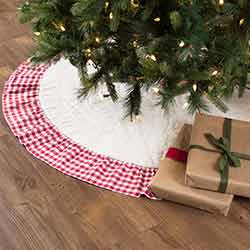 Emmie Red Ruffled 55 inch Tree Skirt