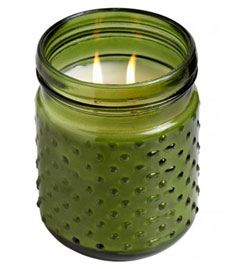 Evergreen Seedlings Knobby Glass Candle
