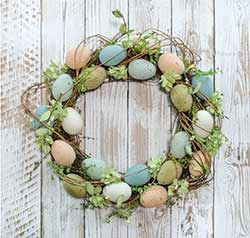 CWI 14 inch Natural Egg Wreath