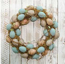 CWI 17 inch Natural Egg Wreath