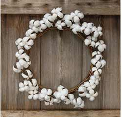 Cotton Ball 17 inch Wreath