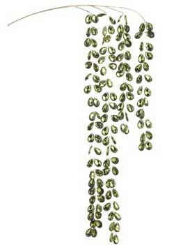 Green Cascading Gem Leaf Spray