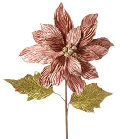 Pink Poinsettia Pick