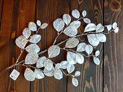 Glittered Laurel Leaf Spray Pick