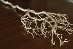 Champagne Glittered Branch