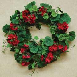 CWI Red Geranium Wreath