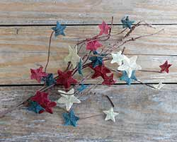 Burlap Patriotic Star Pick