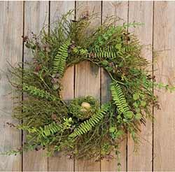 Moss & Fern Wreath with Nest