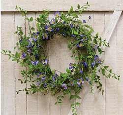 Blue Violets Floral Wreath