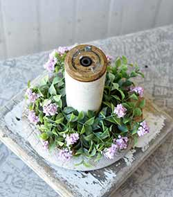 Pink Late Bloomer Candle Ring