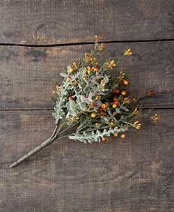 Lancaster Vintage Rusty Eucalyptus & Orange Berry Bush