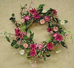 Pink Aster Wreath