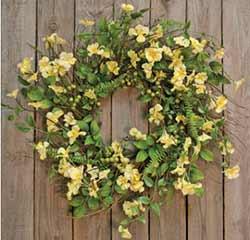 Yellow Clover Wreath