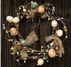 Bird's Egg & Burlap Candle Ring