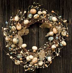 Burlap Eggs & Pips Wreath