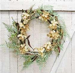 Tea Stain Hydrangea Wreath