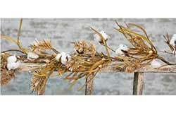 Fall Grasses Cotton Boll Garland