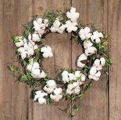 Cotton & Willow Leaf 22 inch Wreath