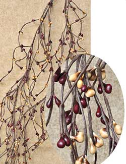 Burgundy Gold Wispy Pip Garland (60 inch)