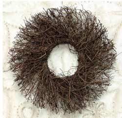Angel Vine Twig Wreath - 8 inches