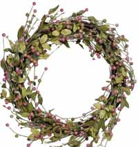 Pink Mixed Berry Wreath