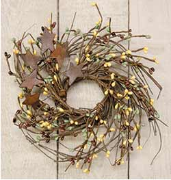 Chocolate & Mint Twig & Berry Wreath