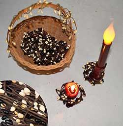 Black & Cream Adjustable Mini Candle Ring