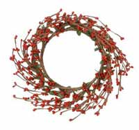 Red Pip Berry Candle Ring, 6 inch