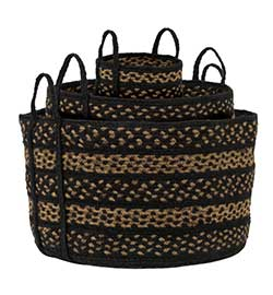 Farmhouse Jute Baskets (Set of 3) - Large