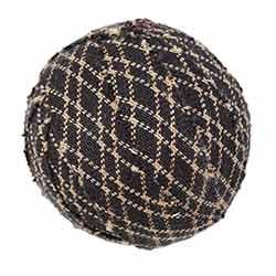 Farmhouse Star 1.5 inch Fabric Ball (Set of 6)
