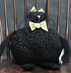 Black Paisley Fat Cat