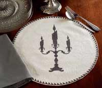 Victorian Heart Favorite Haunt Tablemat - 13 inch