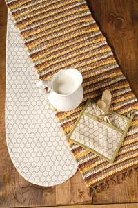 Fenced In Chindi Tablerunner - 48 inch