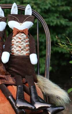 Woof & Poof Ginger Herringbone Fox Boy