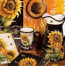 French Sunflowers Mugs (Set of 4)